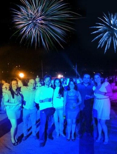 Ano Novo, em Santiago