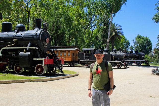 Museo Ferroviario, no Parque Quinta Normal