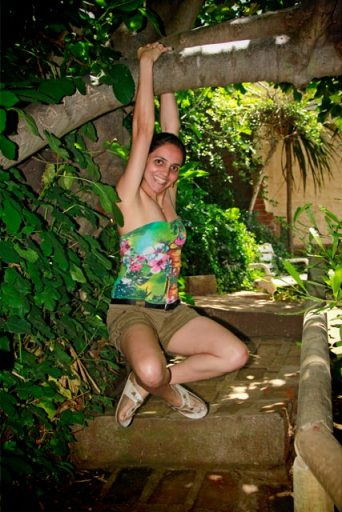 Kaká se diverte, no quintal da La Sebastiana