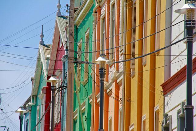 Casas em rua adjacente à Amlirante Montt