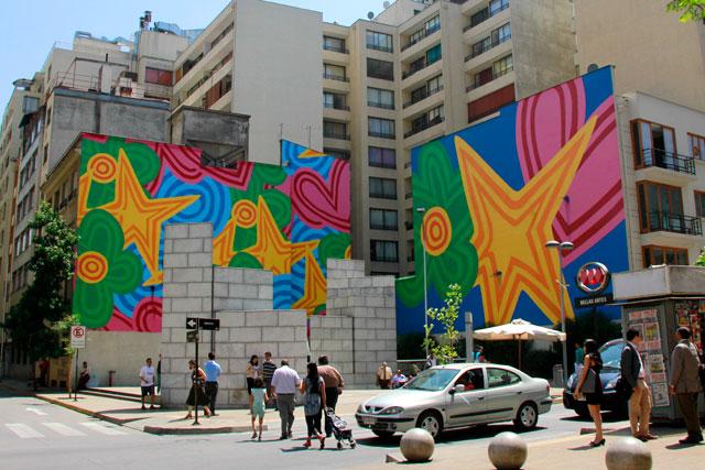 Mural na entrada do metrô Bellas Artes, na esquina das ruas Mosqueto e Monjitas