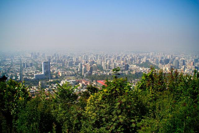 Santiago vista do Cerro San Cristóbal