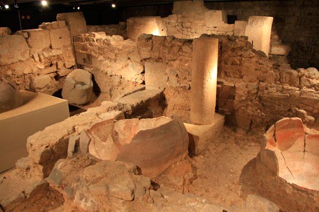Factoria de salaons i gàrum (Fábrica de salgados e molhos), no Museu d'Història de Barcelona