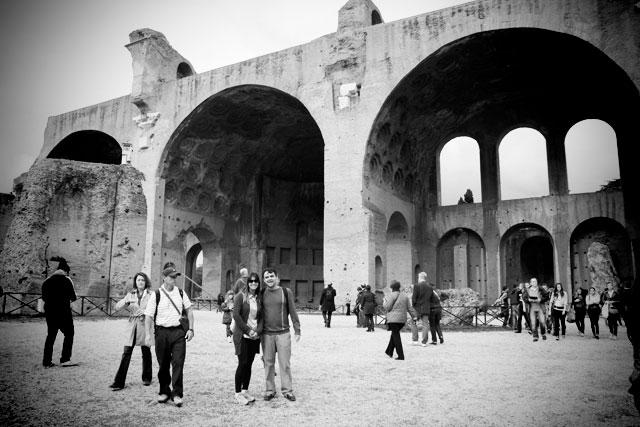 Basílica de Magêncio, no Palatino