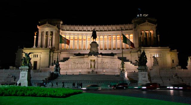 Monumento a Vottorio Emanuele II, visto no retorno ao hotel