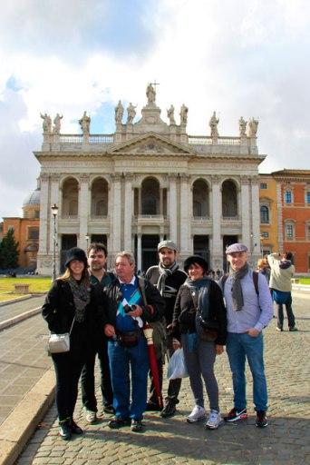 Nosso grupo, em San Giovanni in Laterano