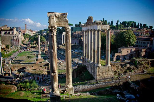 Fórum Romano visto dos Museus Capitolinos