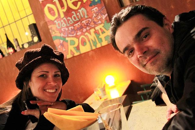 Ana e Élcio, no Open Baladin