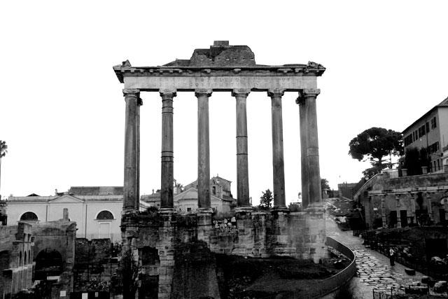 Templo de Saturno, no Fórum Romano
