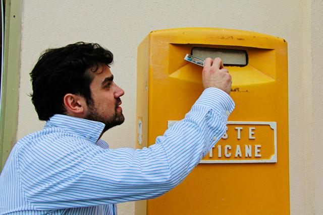 Postal que nunca chegou para a namorada, no Vaticano