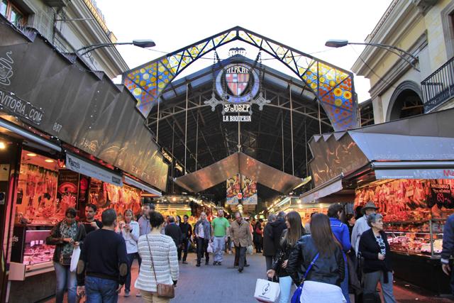 Entrada do La Boqueria pela Rambla de Barcelona