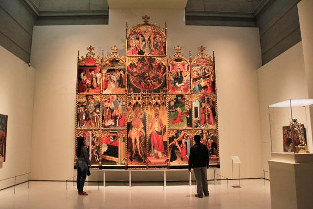 Retábulo de São Miguel e São Pedro, do artista catalão Jaume Cirera, no MNAC