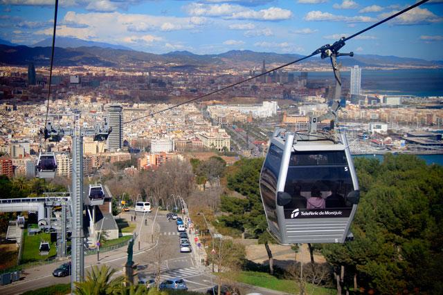 Barcelona vista do Teleférico de Montjuïc