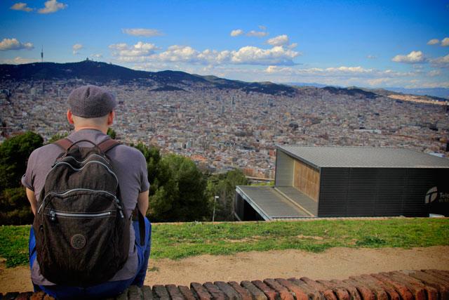Barcelona, vista do Castell de Montjuïc