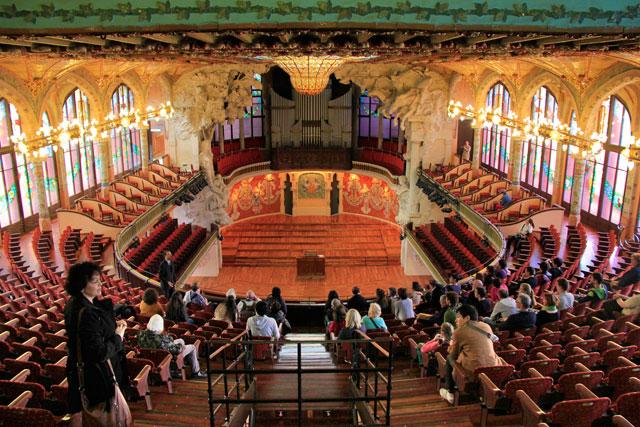 Plateia do Palau de la Música Catalana