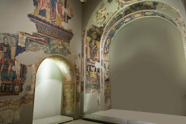 Afresco do século XII retirado da igreja Sant Pere de Sorpe, no MNAC (Foto: Google Art Project)