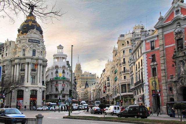 Encontro da Gran Via com Alcalá