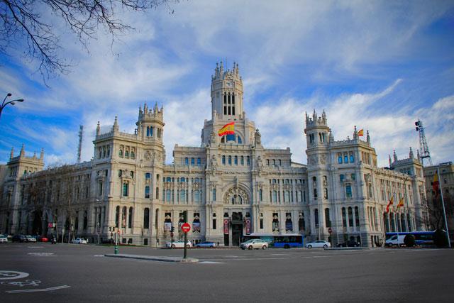Palacio de Comunicacione, na Plaza de Cibeles