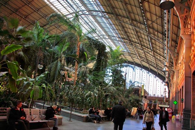 Jardim coberto da estação ferroviária Madrid-Puerta de Atocha