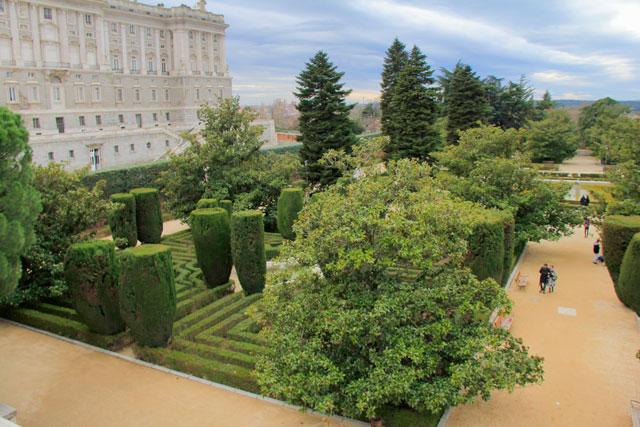 Jardins Sabatini, no Palácio Real