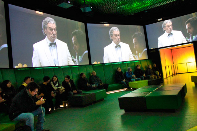 Exposição de campanhas publicitárias, no Heineken Experience