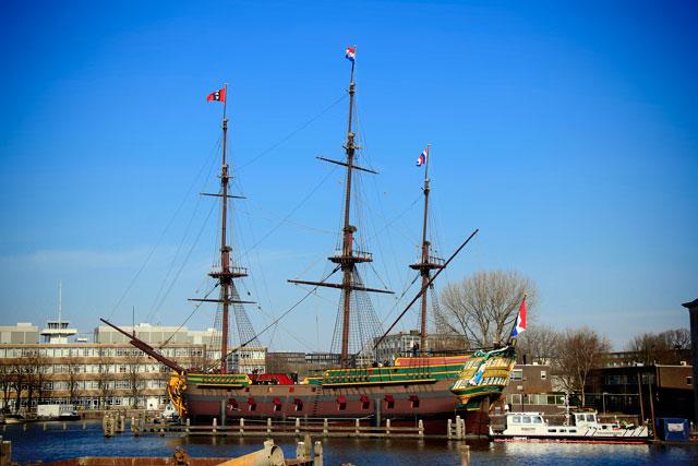 Réplica do navio Amsterdam, no Museu de História Marítima