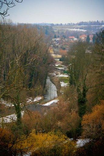Rio Vrchlice visto da Barboská