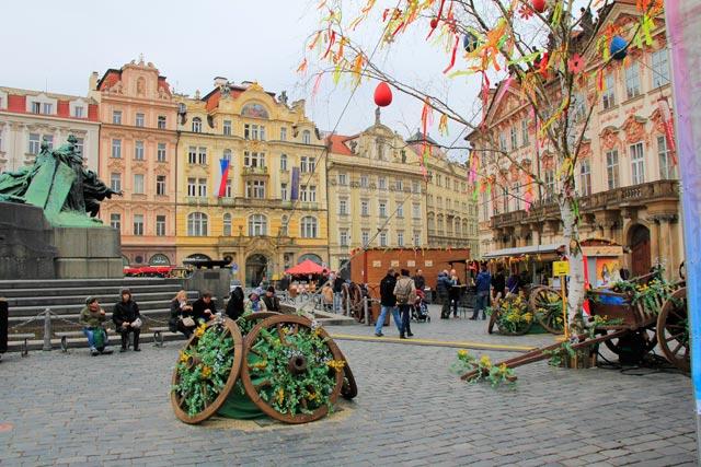 Ornamentação na Praça da Cidade Velha