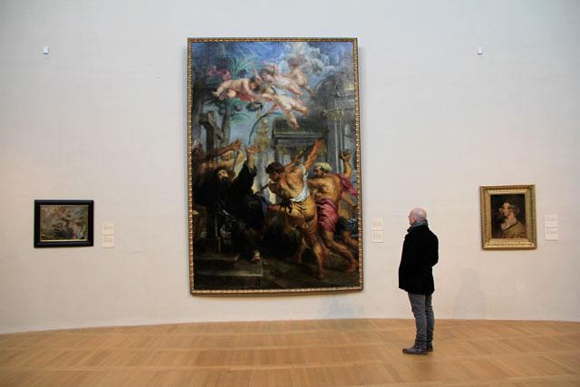 """Tela """"O martírio de São Tomás"""", de Peter Paul Rubens, no Palácio de Sternberg"""