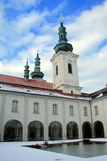 Pátio central do Monastério de Strahov