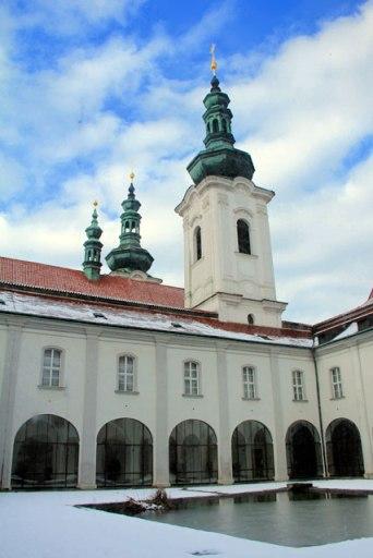 Pátio central do Monastério de Strahov