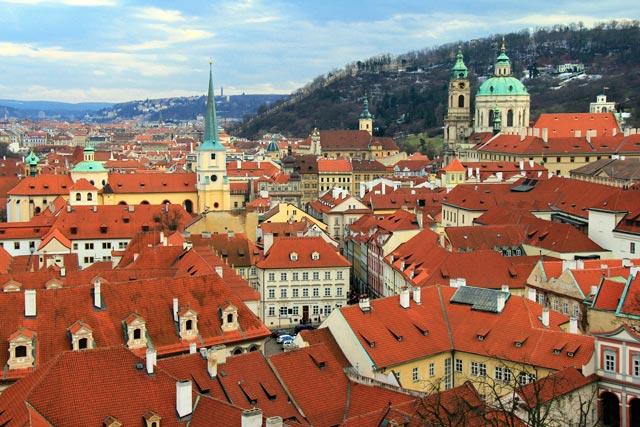 Praga vista do mirante da Praça do Castelo