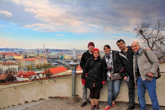 No mirante da via Jiřská, Castelo de Praga
