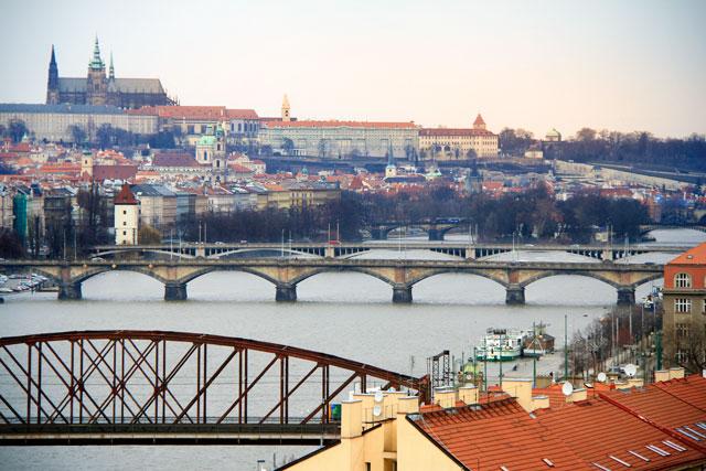 Rio Moldava visto de Vyšehrad