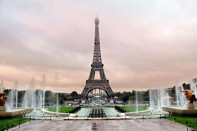 Torre Eiffel e Jardim do Trocadéro