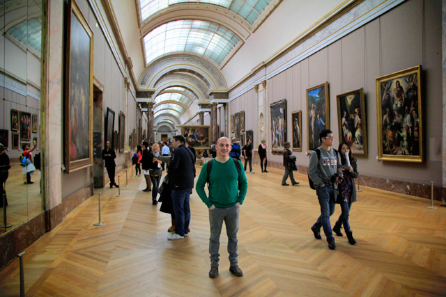 Grande Galeria, no Louvre