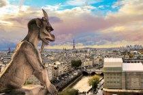 Um dos gárgulas de Notre Dame