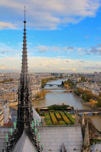 Paris vista do topo da Notre Dame