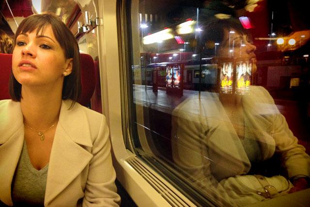 Ana, na partida para Bruxelas