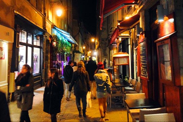 Rue des Rosiers, na parte judaica do Marais