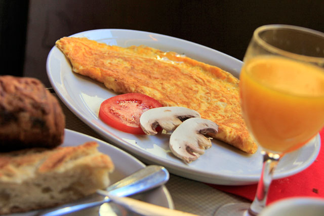 Café da manhã no Café des Deux Moulins