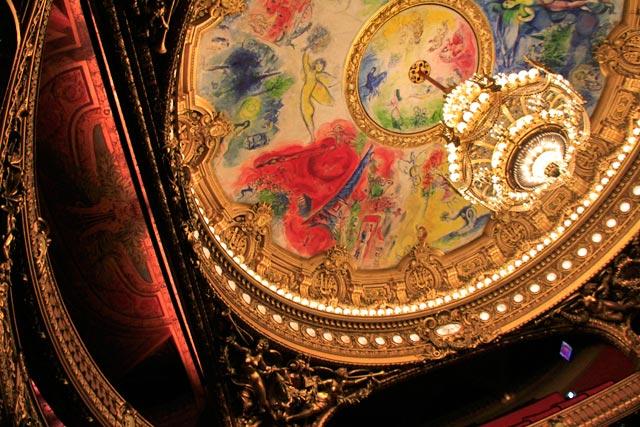 Teto do anfiteatro do Opéra Garnier