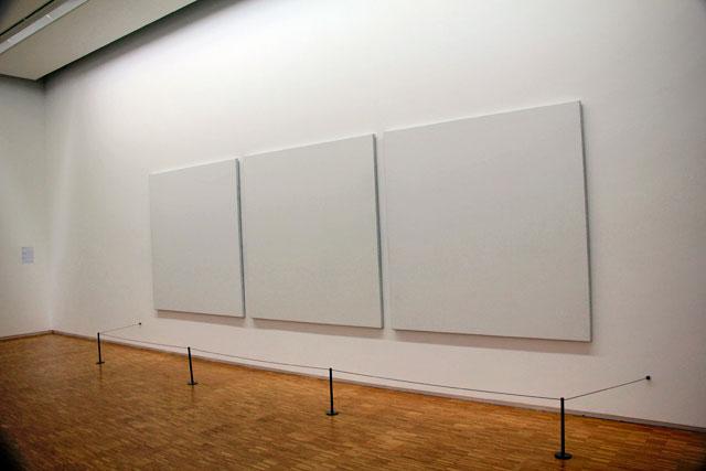 Obra sem título, de Robert Ryman, no Centre Georges Pompidou