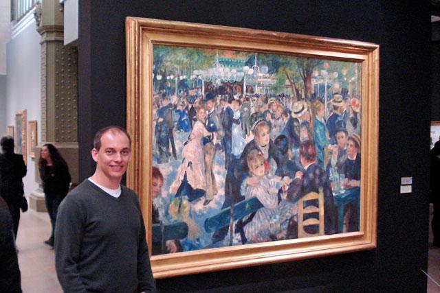 Pintura Bal du moulin de la Galette, de Renoir, exposta no Musée d'Orsay (foto tirada em 2010)