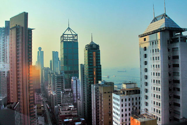 Região de Sheung Wan vista do quarto do Ibis Hotel