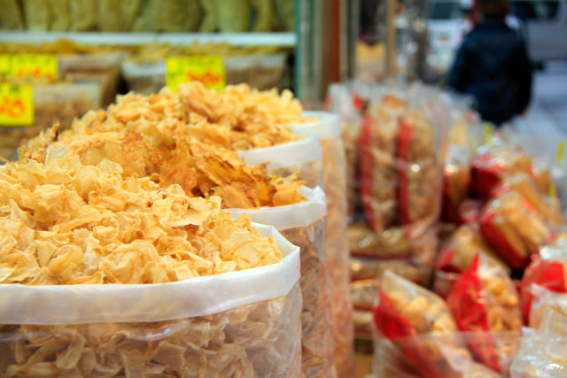 Chips de frutos do mar