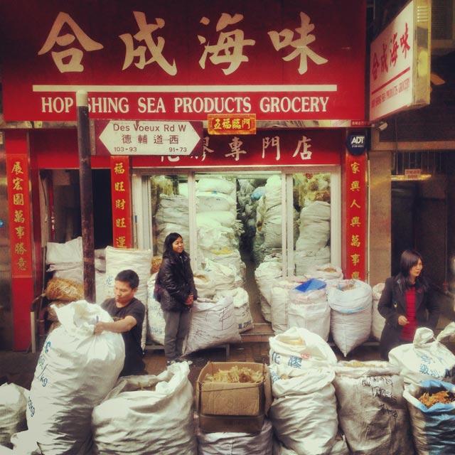 Comércio de frutos do mar desidratados