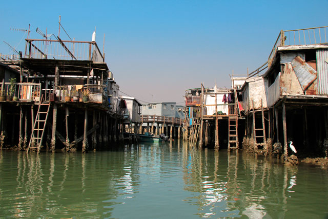 Casas de palafita, em Tai O