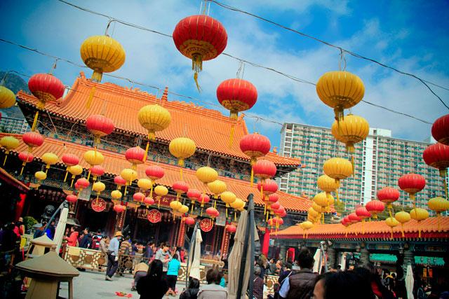 Pátio do Wong Tai Sin Temple