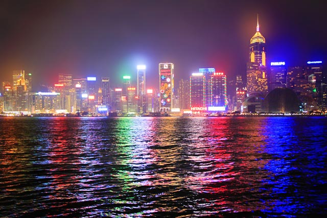 Ilha de Hong Kong vista da Avenida das Estrelas